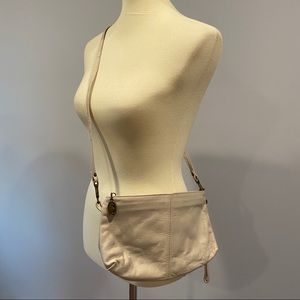 VTG Stone Mountain Cream Leather Crossbody Purse